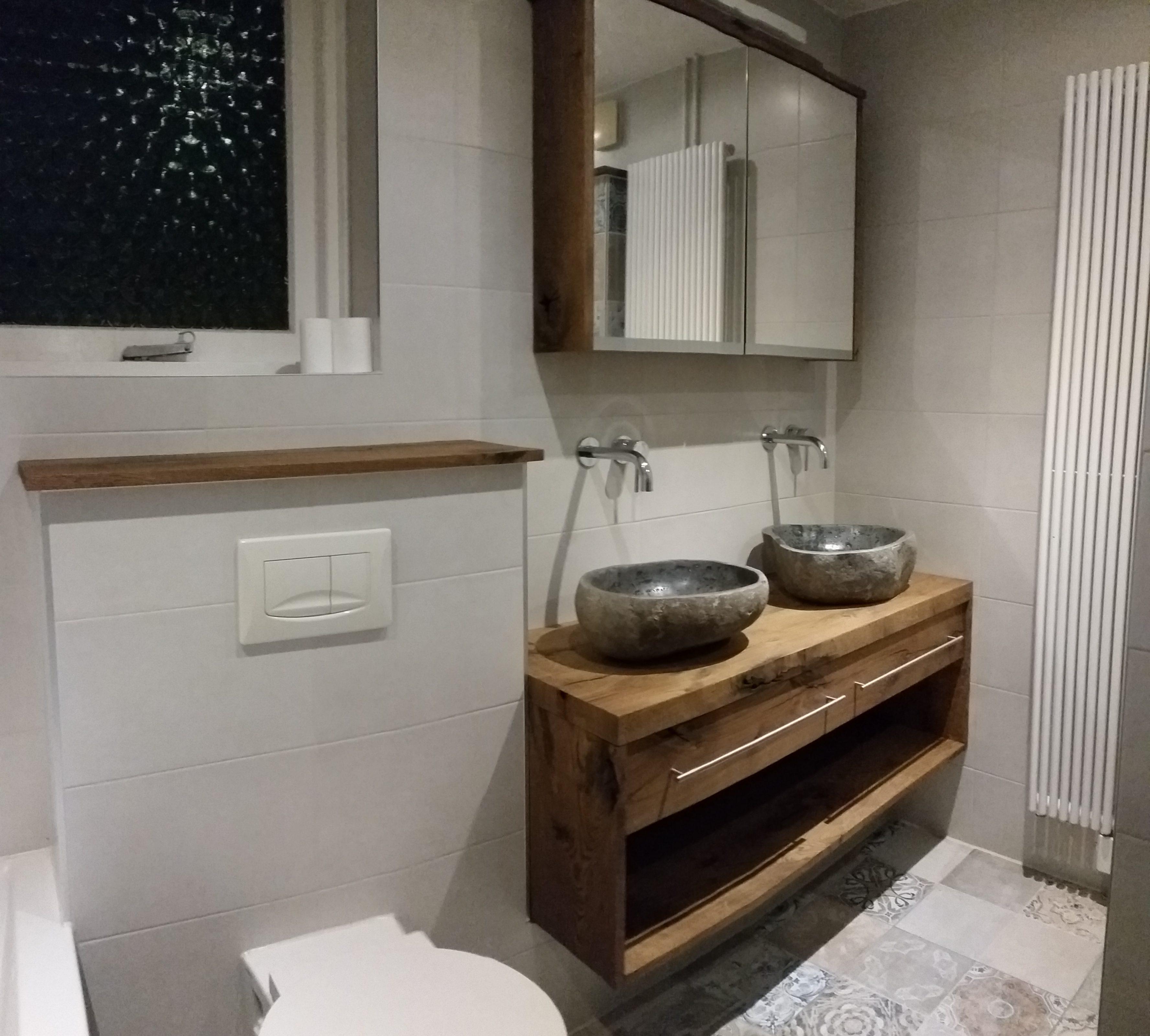 badkamermeubel rustiek eikenhout